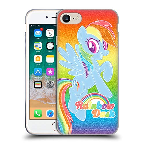 Head Case Designs Officially Licensed My Little Pony Rainbow Dash Rainbow Vibes Soft Gel Case Compatible with Apple iPhone 7 / iPhone 8 / iPhone SE 2020