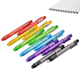 RETON 12 Pièces Porte-stylo Effaçable Rétractable, Gomme Adhésive en Forme de Crayon, Crayon Gomme Mécanique avec 12 Recharges de Gomme, 6 Couleurs (Style de clic)