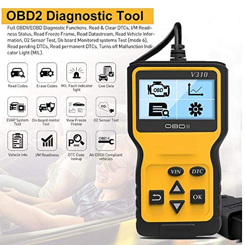 OBD2 Scanner Auto, Valise Diagnostic Multimarque, Diagnostic Auto Supprimer Le Pilote de Code...