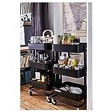 BestOnlineDeals01 RÅSKOG Carro Negro, 35x45x78 cm, duradero y fácil de cuidar. Mesas auxiliares. Mesas auxiliares y café. Mesas y escritorios. Muebles. Respetuoso con el medio ambiente.