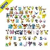 OMZGXGOD Pokemon Figuras ,Mini Figuras de plstico tamao pequeo Regalo,La Figura de Pokmon Incluye a Pikachu, Charmander, Squirtle, nios(96 Piezas)