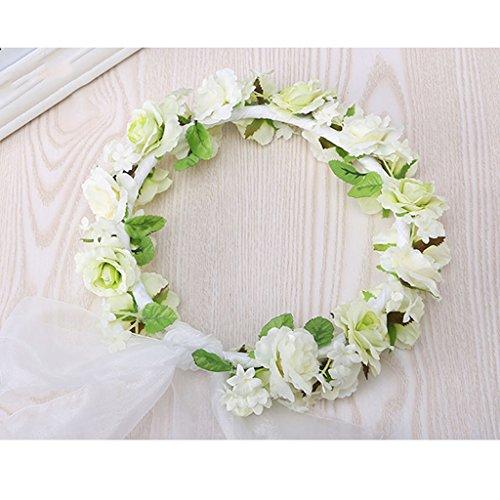 & Coiffe des fleurs de la Couronne Fleur de fleur d'enfant, Bandeau Fleur Guirlandes Fête de mariée à la main à la main Fait bande Bandeau Bracelet Bande de cheveux couronne de couronnes de fleurs ( Couleur : # 2 )