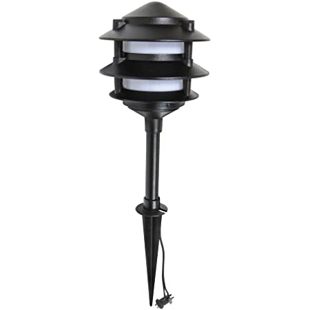 8 Malibu 8301-9200-01 Cast Metal 3-Tier Lights Landscape Garden Path Black NEW