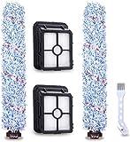 Queta 2 filtros 2 cepillos de rodillo y 1 cepillo para Bissell accesorios para aspiradora en seco y húmedo Bissell Crosswave tres en uno, para piso duro y filtro kit de repuesto reemplazo Bissell