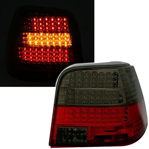 AD Tuning GmbH & Co. KG 960473 Set Feux arrière LED, Verre Transparent Rouge – Noir