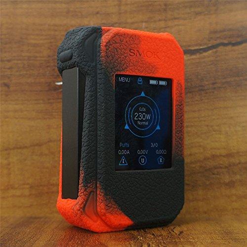 ModShield for Smok G-Priv 2 230W TC Silicone Case ByJojo Cover Shield Wrap Skin (Red/Black)