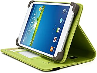 Visual Land Prestige Elite 7QS Tablet Case, UniGrip PRO Series - Mint Green - by Cush Cases (Case Features PU Leather with Bulit in Stand, Hand Strap, 3 Card Slots and SIM Card Holder)