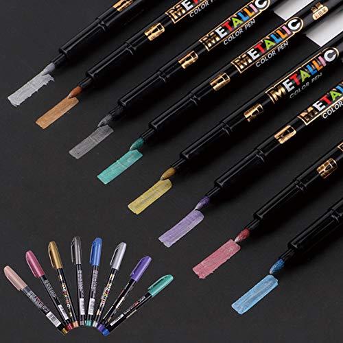 IYOYI Rotuladores Metálicos 8 colores, Rotuladores Calibrad