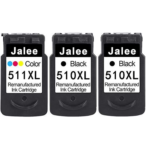 Jalee 3 Cartucce d'inchiostro rigenerata in sostituzione di Canon PG-510XL CL-511XL Compatibile per Canon PIXMA MP230 MP235 MP240 MP250 MP260 MP270 MP280 MP480 MP490 MP495 MP499 MX320 MX330 MX340