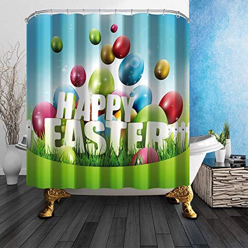 Waben & Bienen Duschvorhang Schlafzimmer Dekor wasserdichtes Gewebe und 12 Haken