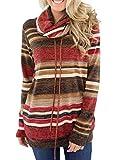 Dokotoo Pull Femme Hoodie Sweat Shirt à Manche Longue Sweat de Sport Col Roulé Blouse T Shirt Chaud Hiver,Multicolor,S