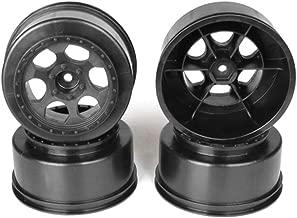 DE Racing Trinidad SC Wheel-Traxxas Slas Front/Black/4pcs TS4FB