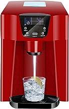 KSDCDF Machine à glaçons à comptoir avec auto-nettoyage, machine à glaçons automatique compacte 24H, 9 cubes prêts à 6-10 ...