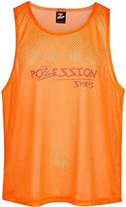 Pozession Sports 2XL & L Sports Pinnies Scrimmage Vests Training Bibs - Set of 12 for Youth Teen and Adult