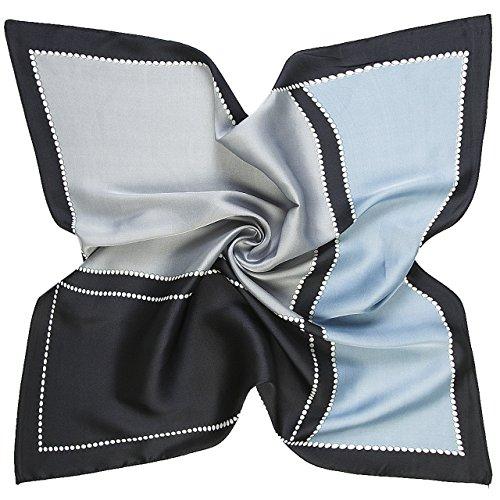 CHIC DIARY Damen Elegantes Halstuch Quadrat Schal Frauen Kopftuch Karo Schal Business Scarf Taschentücher Bandana, 60 * 60cm