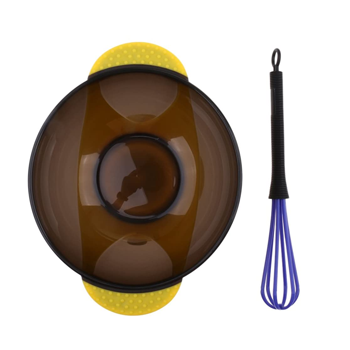 地上でスポンジメールを書くCUTICATE サロン ヘアカラー ミキシングボウル 理髪美容師用 プラスチックボウル 着色ツール