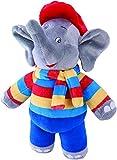 Benjamin Blümchen Kuscheltier Wetter-Elefant mit Sound 10843 , weiche Plüschfigur mit original Stimme, ca. 22 cm groß von Jazwares