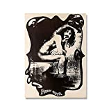 Leinwand Malerei Frank Zappa Rock Gitarrist Nordic Retro