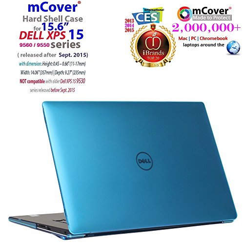 mCover Aqua Hard Case for 15.6' Dell XPS 15 9570/9560/9550/Precision 5510 series Ultrabook laptop (Model:5510/9550/9560/9570)
