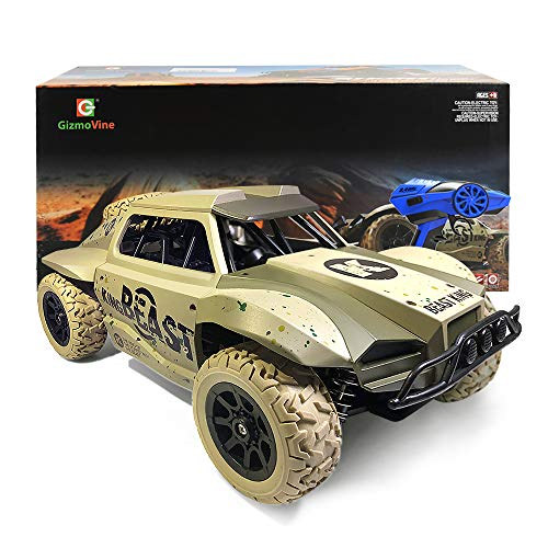 Gizmovine Remote Control Cars 4WD Large Size High Speed 15.5 MPH+ Racing Rc Cars Off Road for Kids