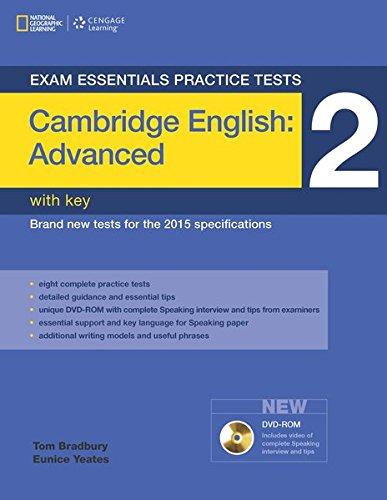 CAMB CAE PRACTICE TEST 2+KEY+DVDR (Exam Essentials: Cambridge Advanced Practice Tests)