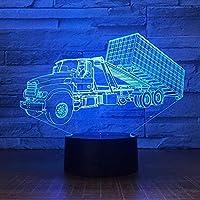3D ナイトライト 7色Bluetoothムードライト3Dナイトライト子供用長距離コンテナトラックLedナイトライト7色変更USBビジュアルテーブルランプクリエイティブクリスマス誕生日プレゼント