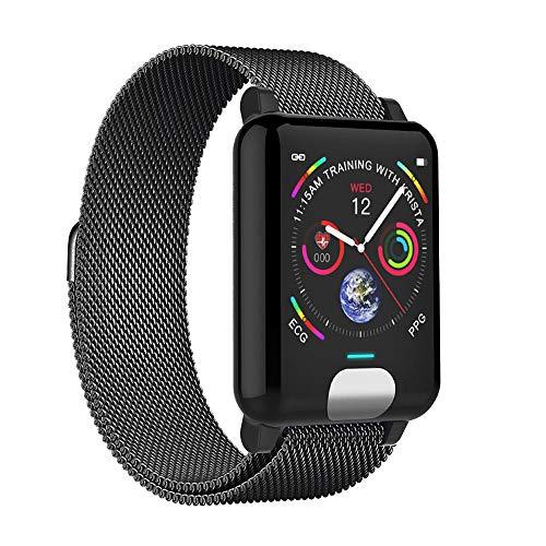 Zeerkeer Smartwatch Full Touch Smart Orologio Intelligente Impermeabile con Monitor Elettronico Della Pressione del Sangue per Android iOS Impermeabile Smart Bracciale N98 (Argento)