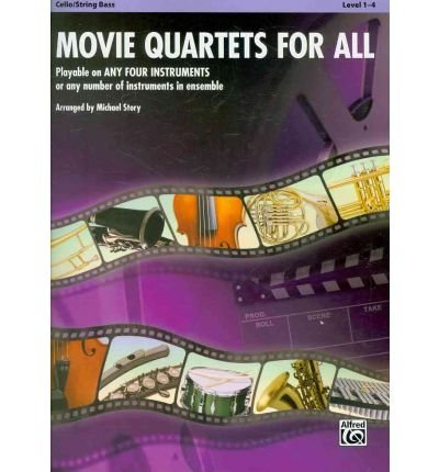 Movie Quartets for All, Cello/String Bass, Level 1-4 (Movie Instrumental Ensembles for All) (Sheet music) - Common