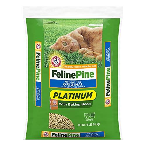 Arm & Hammer Feline Pine Platinum Non-Clumping Cat Litter 18lb Baking Soda