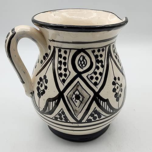 Decoración étnica Jarra cerámica terracota marroquí pintada a mano 0605211010
