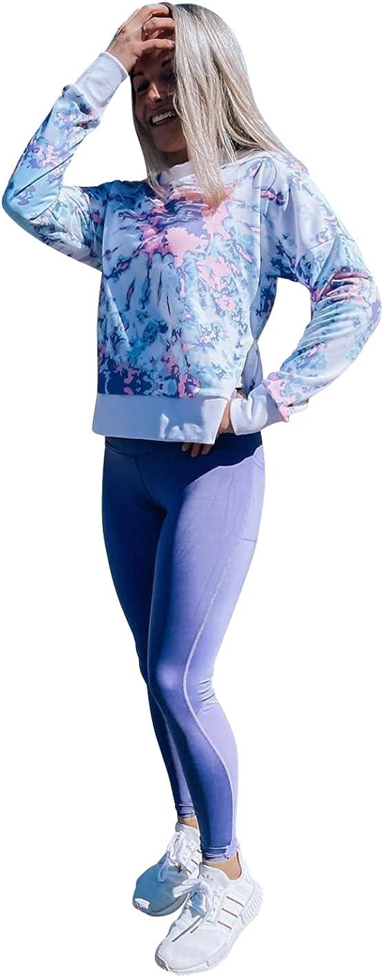 Womens Plus Size Sweatshirt for Workouts, Yoga, Running (Small, Medium, Large, Plus Size) USA Made - Small (Purple, 2x)
