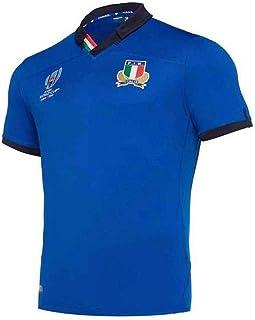 ラグビーウエア半袖2019ワールドカップイタリアホームラグビーTシャツ通気性メンズ ゲームジャージレプリカS-3XLプフットボールジャージラグビージャージ フットボールジャージ (Size : XL)