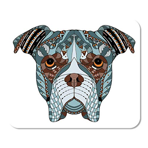 Mousepad Computer Notepad Büro Boxer Hundekopf Zentangle Freihand Bleistift Muster Zen Ornate Home School Game Player Computer Arbeiter Zoll