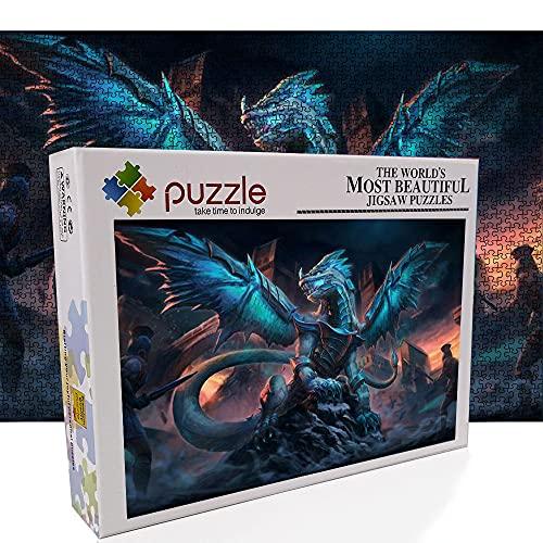 Puzzle de dragón rosa de 1000 piezas para adultos, para 1001 piezas, juego de rompecabezas para adultos Holiday Camp, accesorios para rompecabezas que encajan perfectamente en los puzles juntos.