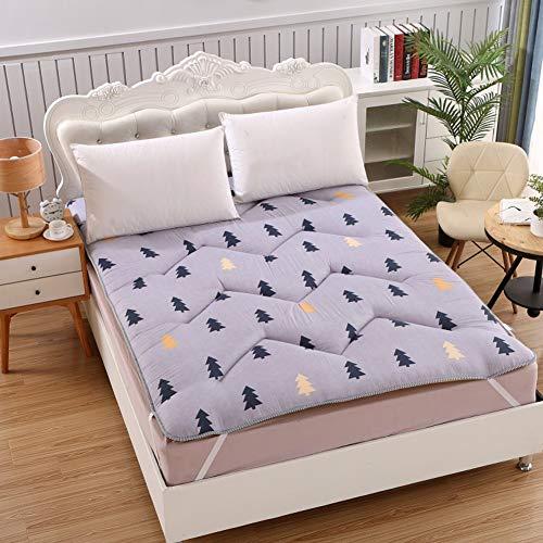 ZAIPP Fluffy Matrastopper, zacht huidvriendelijk Tatami Double vloermatras oprollen niet-slip draagbare slaapzaal bed inklapbare matras
