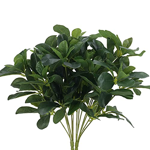 DWANCE 2PCS Plante Artificielle Exterieur Verte Fausse Plante Fausse Plante Buissons Plante Artificielles Cimetiere pour Jardin Maison Fenêtre Bureau Cuisine