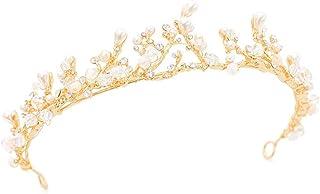 YNYA Tiare Sposa Corona Fatta a Mano Sen Femminile Corona di Cristallo Perline Corona Diamante Fase Accessori per Capelli ...