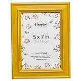 Hampton Frames PAL301957M Paloma Cadre Photo en Bois Vieilli Style Shabby Chic Jaune Moutarde 13 x 18 cm