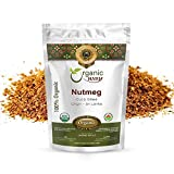 Organic Way Premium Ground Nutmeg Cut & Sifted (Myristica fragrans) - Healthy Digestion | Organic & Kosher Certified | Non GMO & Gluten Free | USDA Certified | Origin - Sri Lanka (1/4 LBS/4 OZ)