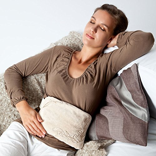 Grünspecht 186-10 Grape Seed Warming Cushion for Back and Stomach Floral