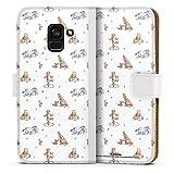 DeinDesign Étui Compatible avec Samsung Galaxy A8 Duos 2018 Étui Folio Étui magnétique Winnie...