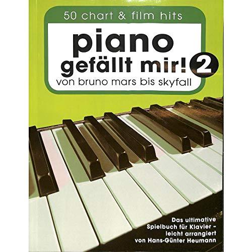Piano gefällt mir! Band 2 mit Bleistift - 50 weitere Chart- und Filmhits von Bruno Mars bis Skyfall in leichten Arrangements für Klavier [Musiknoten] Hans-Günter Heumann Ed.
