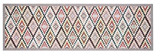 Zala Living Waschbarer Küchenläufer Küchenteppich Teppichläufer Navajo (45x140 cm, 100% Polyamid, rutschfest, Fußbodenheizung geeignet), Bunt