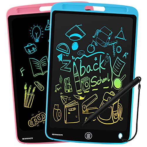 LCD Writing Tablet, 2 Pack 10 Inch Colorful Doodle Board Drawing Pad for Kids, Erasable Electronic Painting Pads, Learning Educational Toy Gift for Age 3 4 5 6 7 8 Year Old Girls Boys Toddlers