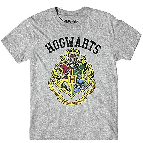Product Image of the Harry Potter Men's Hogwarts Crest T-Shirt (XX-Large) Grey