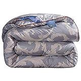 HOUMEL 026 - Edredón de verano para cama individual o doble (1,5 tog, lavable a máquina, 100% algodón), a, King