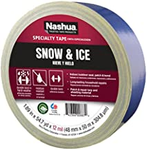 Nashua Polyethylene Coated Cloth Snow and Ice Premium Duct Tape, 12 mil Thick, 50 m Length, 48 mm Width, Blue