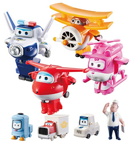 Auldeytoys YW710650A Super Wings Transform-a-Bots: Flight Crew Figur Pack, unisex-child
