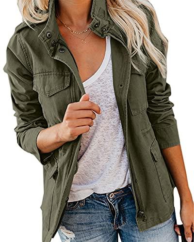 Imily Bela Parka Chaqueta Mujer Utility Jacket Abrigo Largo Chaqueta Cálido Boyfriend Oversized