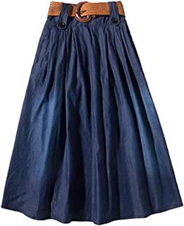 Femmes pack de deux violet maille jupes taille 14